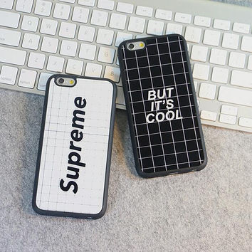 "Lattice ""But it's cool"" mobile phone case for iphone 5 5s SE 6 6s 6 plus 6s plus + Nice gift box 71501"