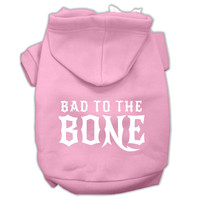 Bad to the Bone Dog Pet Hoodies Light Pink Size XXXL (20)