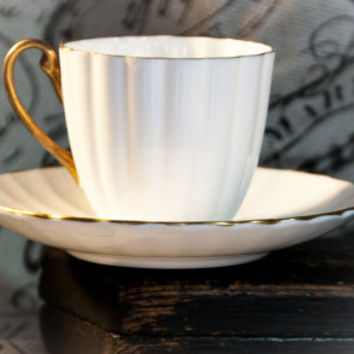 Shelley Fine Bone China Cup and Saucer Made in England