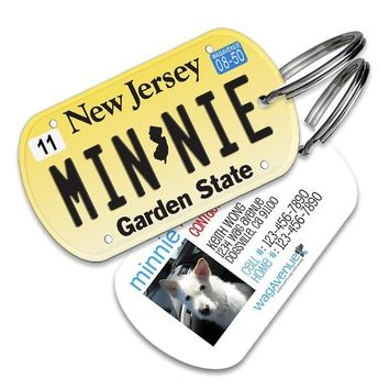 New Jersey License Plate Pet Tag
