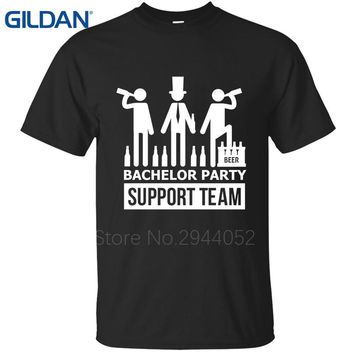 Bachelor Party Support Team T-Shirt - Men's Groom Tee