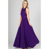 Marilyn Multi-Way Maxi Dress - Purple