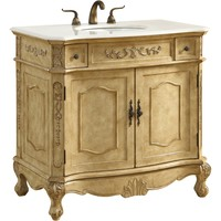 "Danville 36"" Single Bathroom Vanity Set, Antique Beige"
