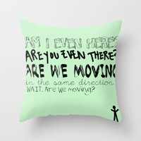 Questions Throw Pillow by Elizabeth Seward