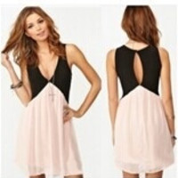 Sexy Women Summer Sleeveless Backless Cocktail Evening Party Chiffon Mini Dress = 1946861188