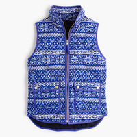 J.Crew Womens Excursion Vest In Fair Isle