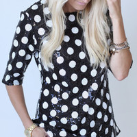 Sequin Polka Dot Top