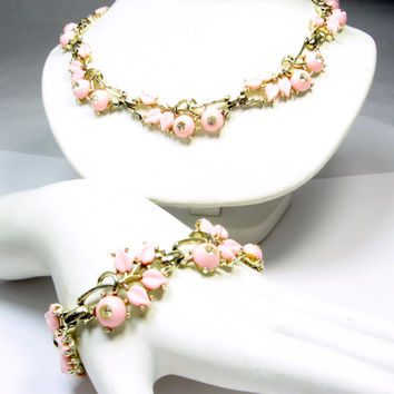 Kramer Necklace Bracelet Set Thermoset Rhinestone