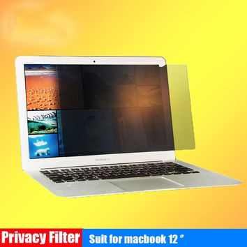 VBNM 12 Inch Privacy Filter Screen Protector for Apple Macbook 12 A1534 Anti-Glare Radiation Protectors Film for Mac Book Laptop