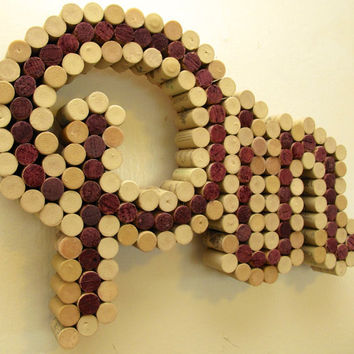"Wine Cork Board reading ""Pin"", inspired by Pinterest"