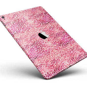 "Pink Watercolor Leopard Pattern Full Body Skin for the iPad Pro (12.9"" or 9.7"" available)"