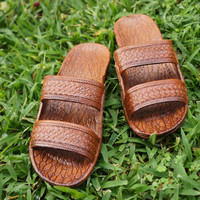 classic brown pali hawaii sandals