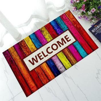 Autumn Fall welcome door mat doormat Modern Rubber Floor Home Front Door Entry Welcome Mat Carpet Outdoor Funny  For Entrance Door Anti Slip Bedroom Rug AT_76_7