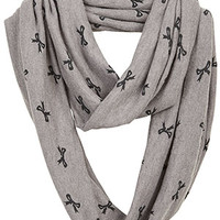 Super-Soft Bow Print Infinity Scarf - Multi