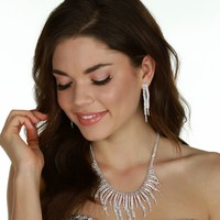 Silver Shes Got Class Necklace Set