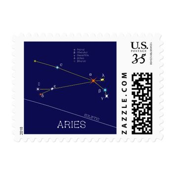 Constellation ARIES unique, sublime Postage