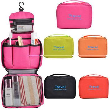 VONESC6 Travel Multifunction Travel Hanging Cosmetic Bag Picnic Sorting Hanging Wash Bag Make Up Organizer bag
