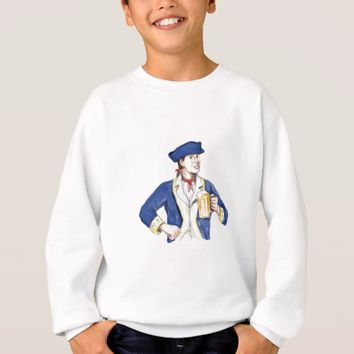 American Patriot Holding Beer Mug Toast Watercolor Sweatshirt