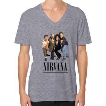 Nirvana Seinfeld V-Neck (on man) Shirt