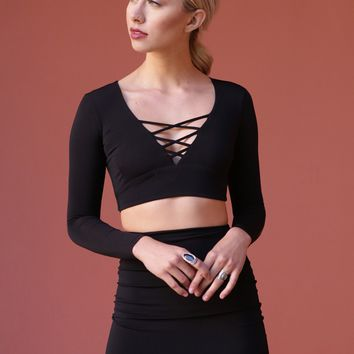 West Coast Wardrobe  Well Played Crop Top in Black