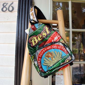 Recycled Rice Sack Backpack