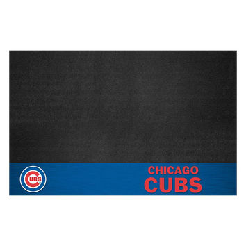 Chicago Cubs MLB Vinyl Grill Mat
