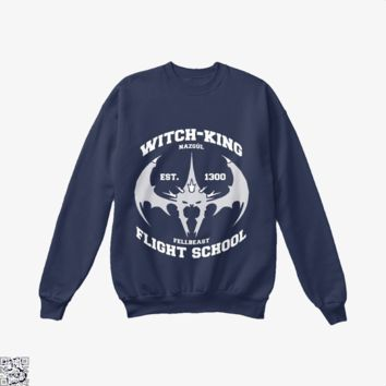 Witch King Nazgûl Flight School, Lord Of The Rings Crew Neck Sweatshirt