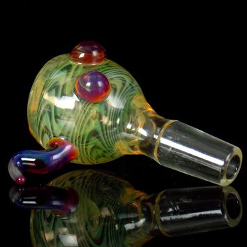 14mm Fumed Bowl with Amber Purple Horns