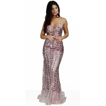 It's All About this Rose Gold Sequins Gown