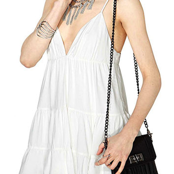 White Self-tie Cami Dress