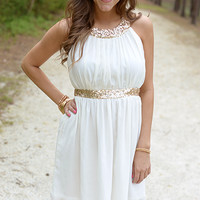 The Cleopatra Dress, Ivory