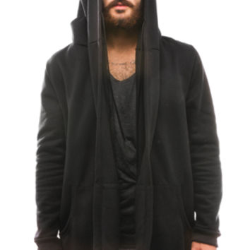 The Sado Hoodie in Black Fleece