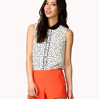 Peter Pan Collar Polka Dot Shirt | FOREVER 21 - 2045641786