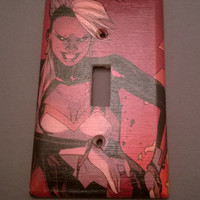 Comic Book X-men Storm superhero  comic light switch cover