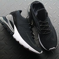 Nike Air Max 270 Flyknit AO1023-002 Black Sport Running Shoes