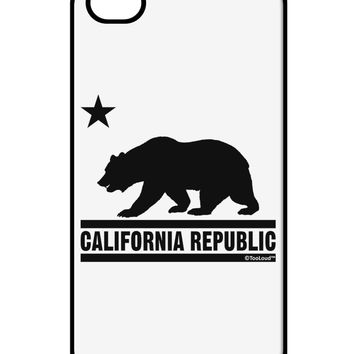 California Republic Design - Cali Bear iPhone 4 / 4S Case  by TooLoud