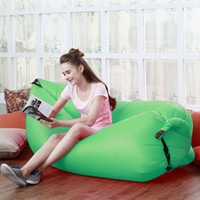 Inflatable Beanbag Sofa Chair Living Room Bean Bag Cushion Outdoor  Beanbag Furniture Flatfish Sleeping For Camping Hiking