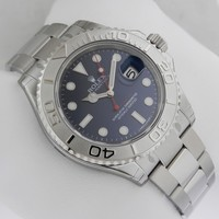 Rolex Yacht-Master 116622 Blue SS/Platinum Bezel 40mm Box & Papers Ret: $11,550