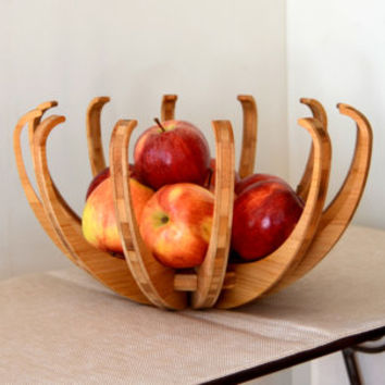 Blossom Fruit Bowl in eco-friendly bamboo, fruit bowl, fruit basket, bowl, basket, home, wood bowl, modern home, modern living, kitchen