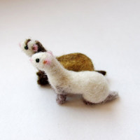 Miniature ferret by HandmadeByNovember on Etsy