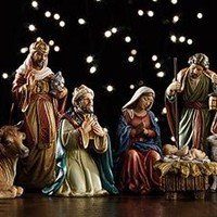 "9-piece 5"" Nativity Set"