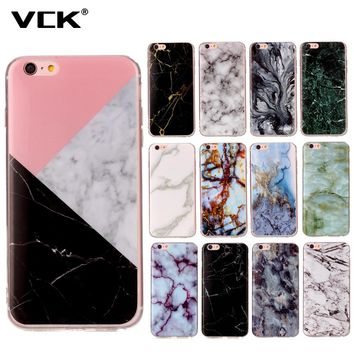For Samsung Galaxy S3 S4 S5 S6 S7 S8 S6 S7 Edge S8 Plus J3 2016 J5 J7 J510 J710 Granite Marble Painted Phone Case Soft TPU cover