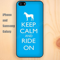 keep calm and ride on iphone 6 6 plus iPhone 5 5S 5C case Samsung S3,S4,S5 case Ipod Silicone plastic Phone cover Waterproof