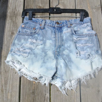 High Waisted Ombré Fade Levi's Shorts by CourtAlexxx on Etsy