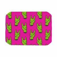 "KESS Original ""Zombie Rock"" Green Magenta Place Mat"