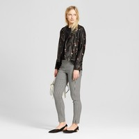 Women's Printed Moto Jacket - Who What Wear™ Floral Print S