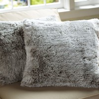 FAUX FUR PILLOW COVER - LYNX