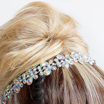 Bridal Rhinestone Headband, Wedding Headband, Bridal Headpiece, Wedding Head Piece, Bridal Hair Accessory, Vintage Style, wedding accessory