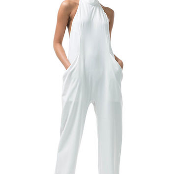 Backless Jumpsuit Ivory