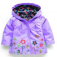 Girl's Fashion jackets Girls Outerwear Coats blazer Trench Spring Girls Hoodies Jackets Baby raincoat Children's Coat